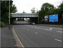 SK5802 : Railway Bridge across Aylestone Road by Mat Fascione