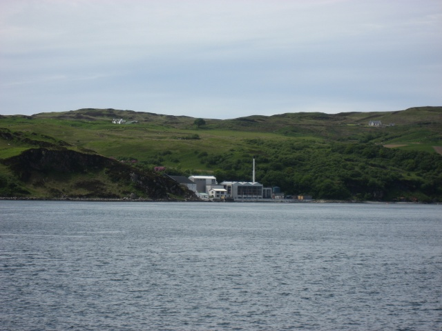 Caol Ila Distillery seen from Jura