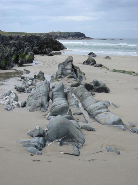 Rocks on Saligo Bay Beach