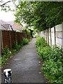 SD7811 : Footpath alongside Elton Cricket Club by liz dawson