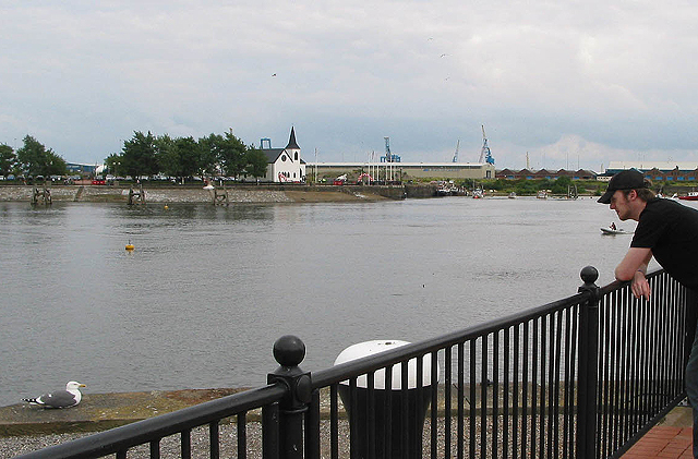 View across the inner harbour, Cardiff Bay