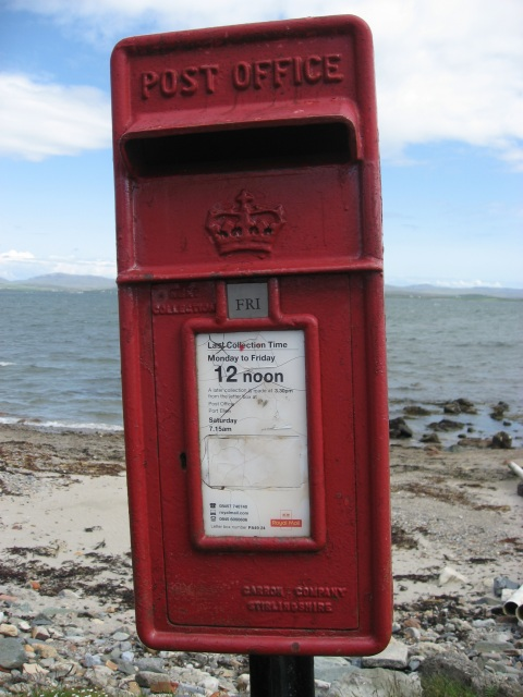 Post Box outside the Bruichladdich Post Office