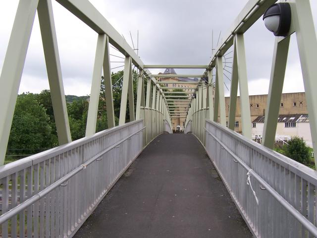 Footbridge over the A650 Road and Railway Line