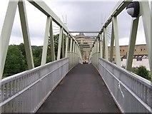 SE1039 : Footbridge over the A650 Road and Railway Line by Joe Regan