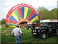 SO3406 : Hot air balloon launch by Roy Parkhouse