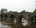 SO5039 : Wye Bridge, Hereford, from the Left Bank terrace by Pauline E
