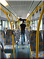 SO9121 : Disembarking from the Park and Ride bus, Arle Court by Pauline E