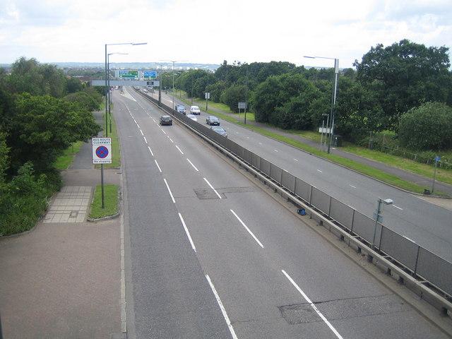 A1 Great North Way north of Hendon