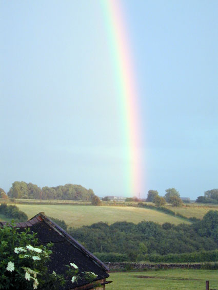 Rainbow over Marshfield Cricket Club
