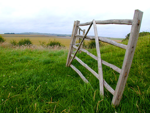 Old gate at Avebury Circle