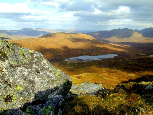 View of Loch Sguadaig from Beinn Teallach