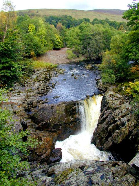 Waterfall on the River Spean near Achluachrach