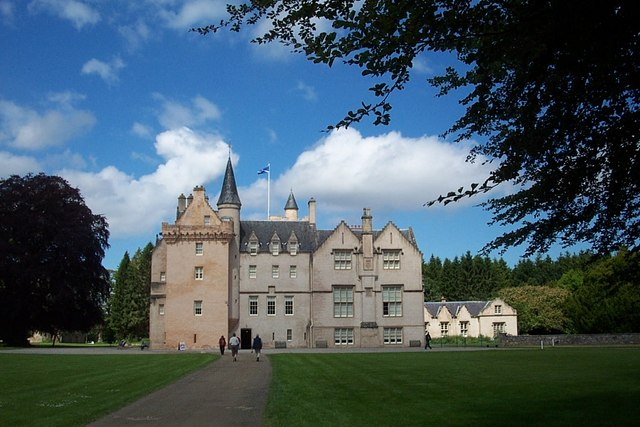 The south approach to Brodie Castle