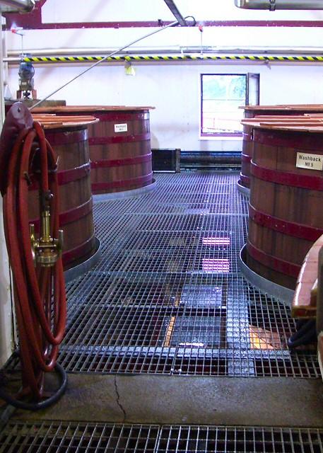Washbacks at Aberfeldy Distillery