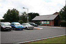 TQ2258 : Car park and ticket office/waiting room, Tattenham Corner station by Dr Neil Clifton