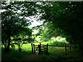 ST7374 : Gate on the Cotswold Way, near Dyrham by Brian Robert Marshall