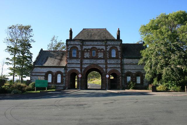 Entrance to Barrow Cemetery