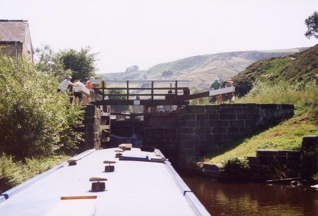 Wadsworth Mill lock Rochdale Canal