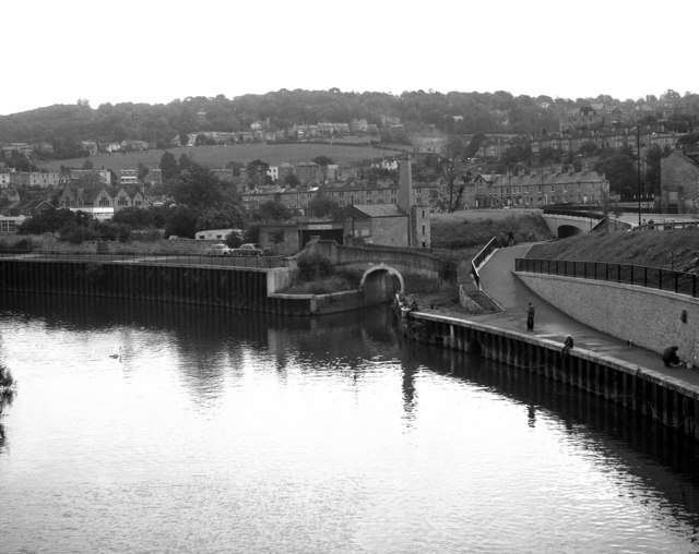 Canal/River junction in Bath