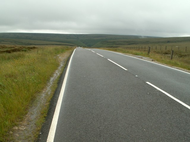 A57 Snake Road at the Summit looking East