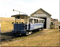 SH7783 : Halfway, Great Orme Tramway, Llandudno by Dr Neil Clifton