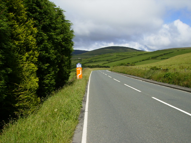 Approaching 11th Milestone bend on the TT Course