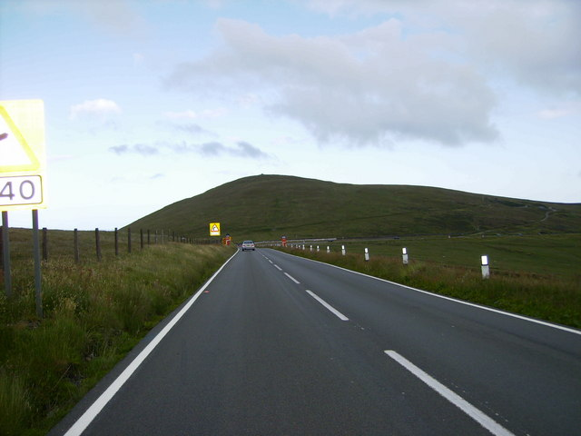 On the A18 Isle of Man Mountain Road - also the TT Course