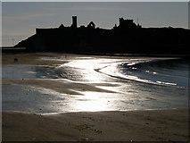 SC2484 : Peel beach and castle by Chris Gunns