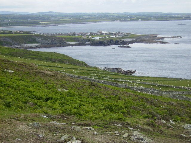 Perwick Bay and Port St.Mary seen from The Chasms