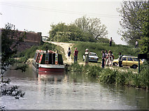 SU7451 : Trip boat at Colt Hill Wharf, Basingstoke Canal by Dr Neil Clifton