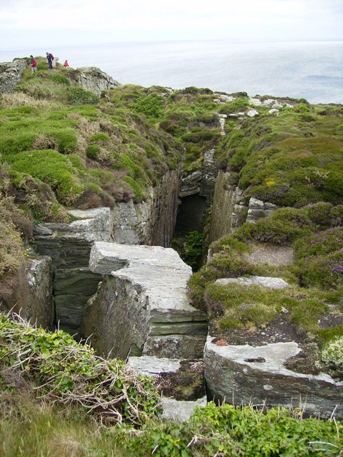One of the Chasms on the coastal path near Port St.Mary