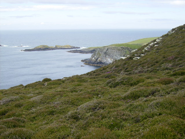 Kitterland and the Calf Sound seen from the coastal path