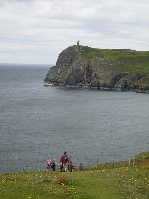 Bradda Head seen from the Coastal Path above Port Erin