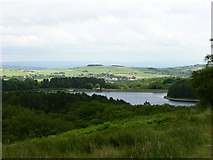SD7217 : View South East towards Turton and Entwistle Reservoir by liz dawson