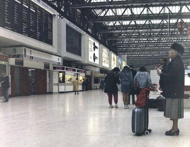 Main concourse, Waterloo station, London
