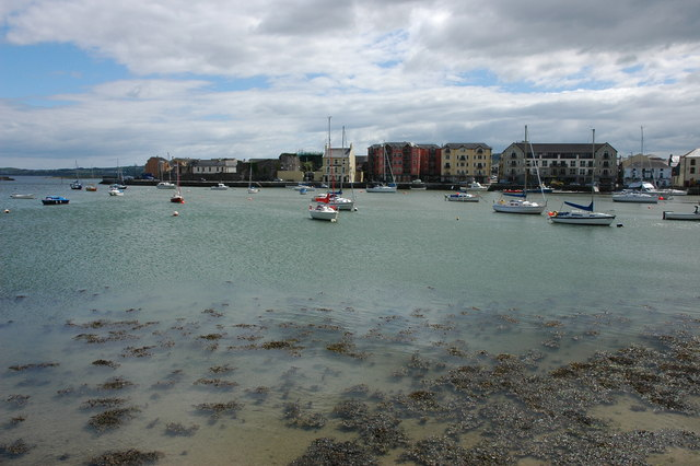 Harbour and castle at Dungarvan