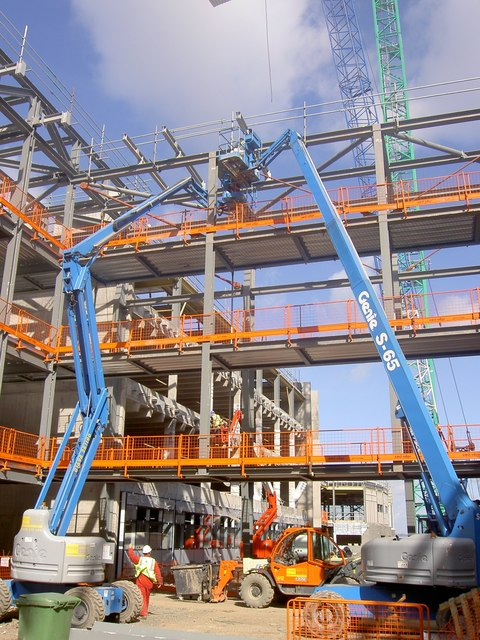 The new Edinburgh Telford college under construction.