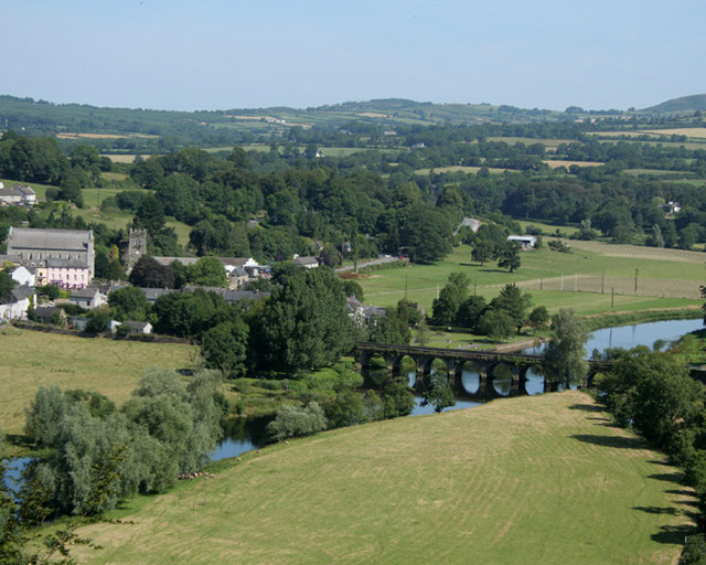 Inistioge from Sandford Castle