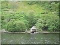 NH4314 : Boathouse on Loch Ness by John Allan