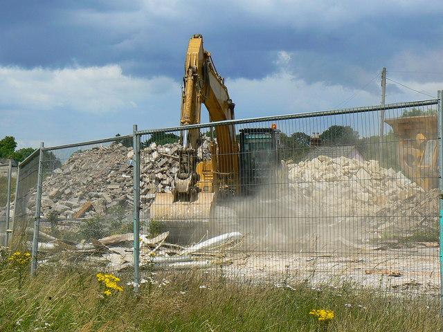 Demolition site, A419 Blunsdon