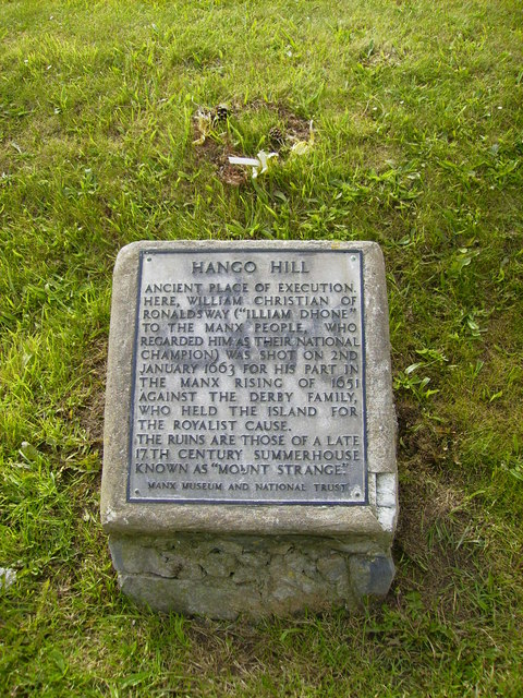 Plaque on Hango Hill near Castletown