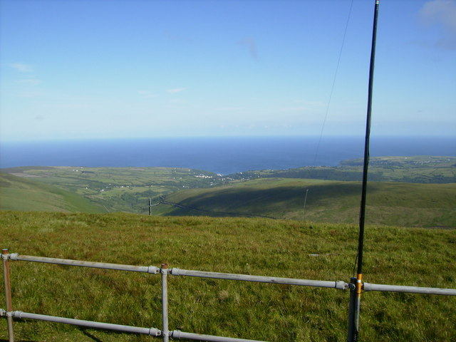 View from the top of Snaefell towards Laxey