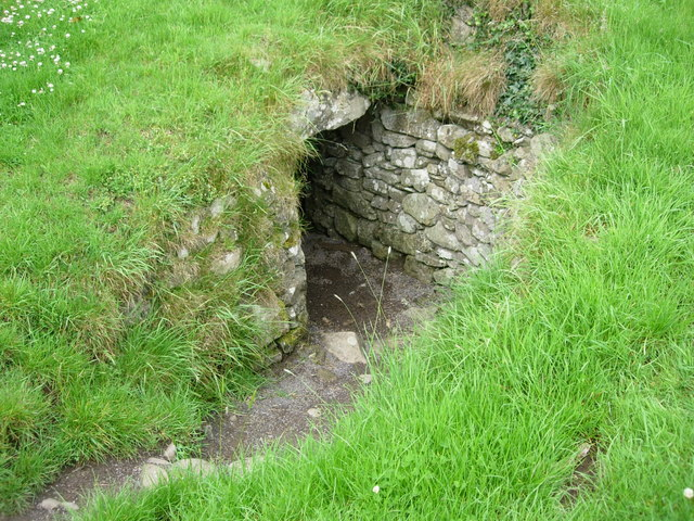 Entrance to North Passage Dowth Megalithic Tomb