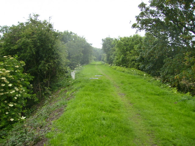 Section of the former railway line from Peel to Ramsey