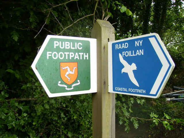Footpath junction sign