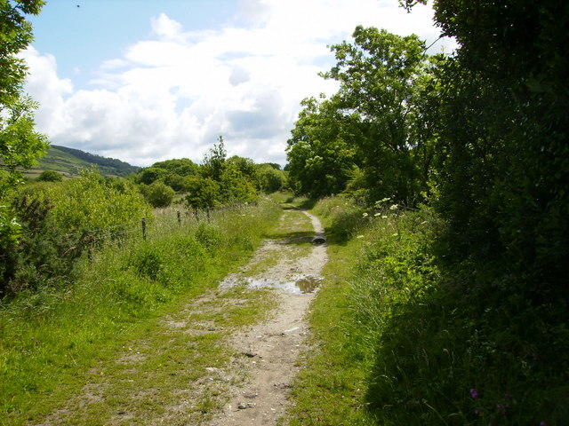 Part of the former Douglas to Peel railway line