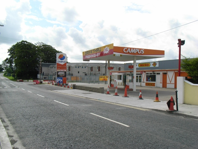 Petrol Station on the Kentstown Road