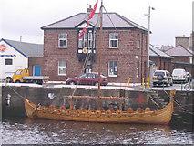 SC2484 : Peel Harbour and Viking ship by M J Richardson