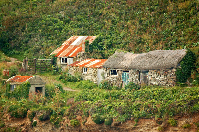 Fishermen's cottages, Prussia Cove