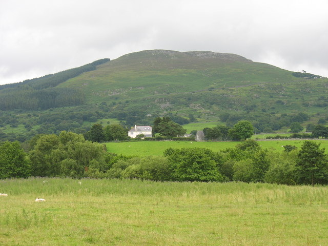 View across the incised Cegin Valley towards the hamlet of Rhyd-y-groes